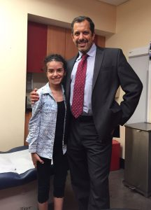 Dr. Vitale with patient