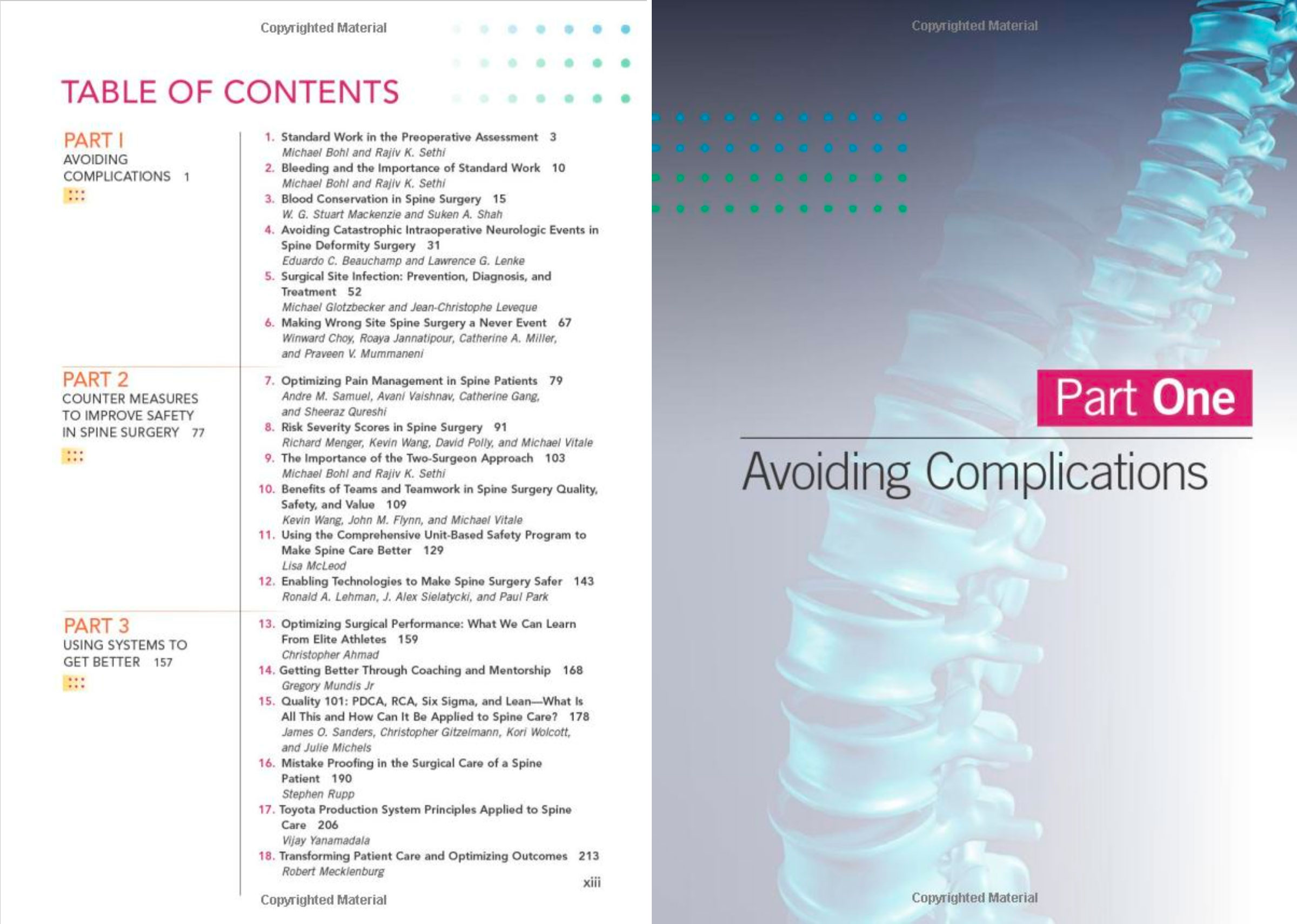 Safety in Spine Surgery Book