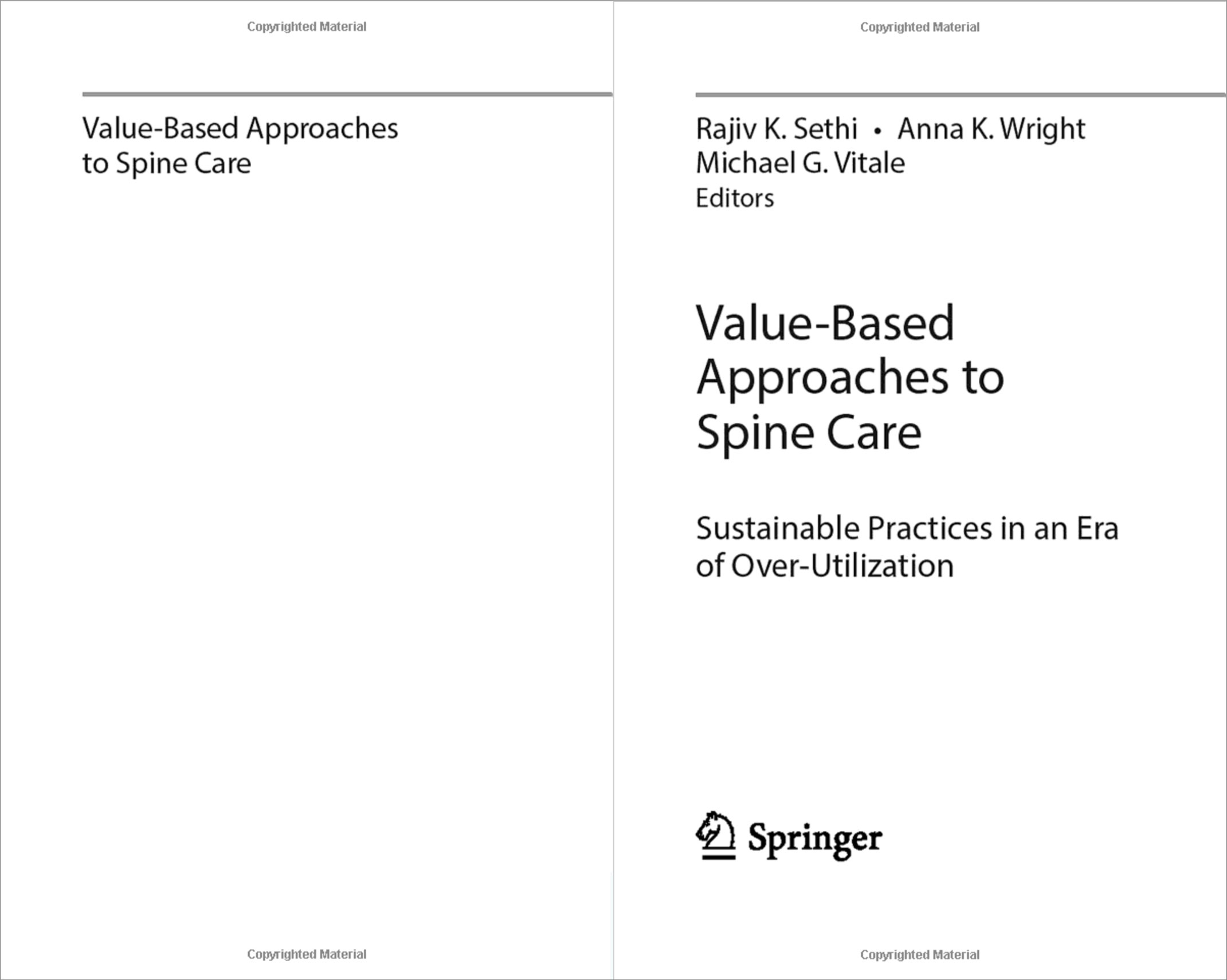 Value-Based Approaches to Spine Care-book-spread