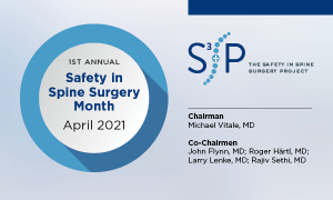 S3P-Safety in Spine Surgery Month